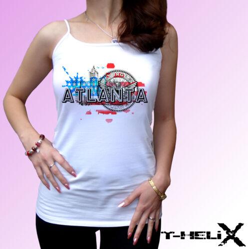 mens womens kids /& baby sizes white t shirt top USA design flag Atlanta City
