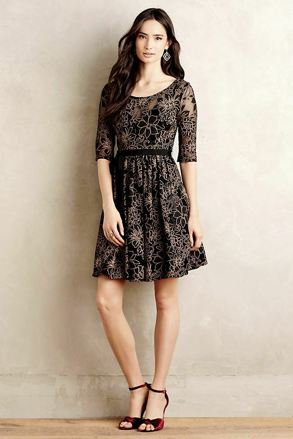 NIP Anthropologie Blooming Burnout Lace Dress by Plenty Tracy Reese, Größe 0P