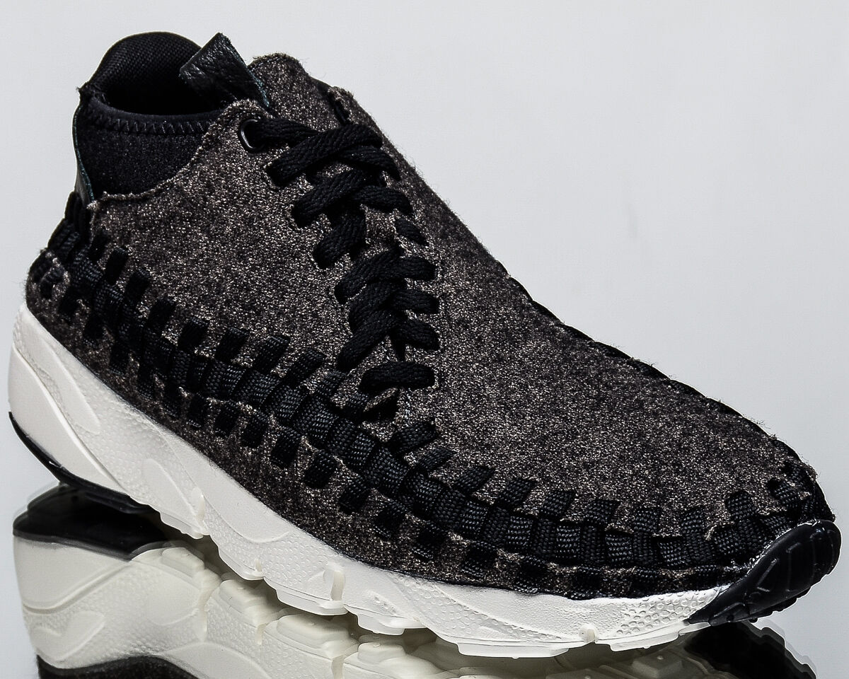 Nike Air Footscape Woven shoes Chukka SE men lifestyle shoes Woven NEW black 857874-001 6426cd