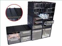 4 Schubladen endlos Kombi Modul transparent 230x145x125 schwarz Aufbewahrung