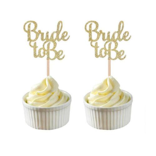 Polka Dot Sky Bride To Be Paper Cake topper décoration paillettes d/'or Pack de 10 UK
