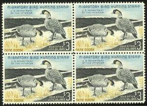 RW30-3-00-1963-Brant-Ducks-Lovely-Mint-NH-Block-of-4