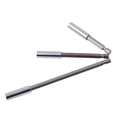 1Set Hex Shank Screwdriver Extension Socket Head Rod Drill Bit Holder Tool O3