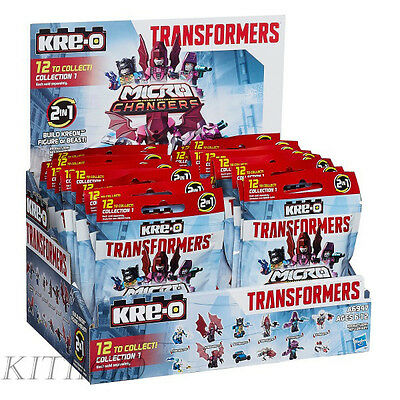 Transformers Hasbro Kre-O Micro Changers Age of Extinction 12 Blind Bags Set NEW