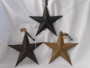 "8"" Metal Star-Black-Burgandy or Mustard-Primitive Decor"
