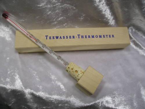 Teethermometer Thermometer Tee  Holz Grüntee 1A un 100g Jasmintee