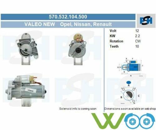 Original VALEO NEW Anlasser Starter 570.532.104.500