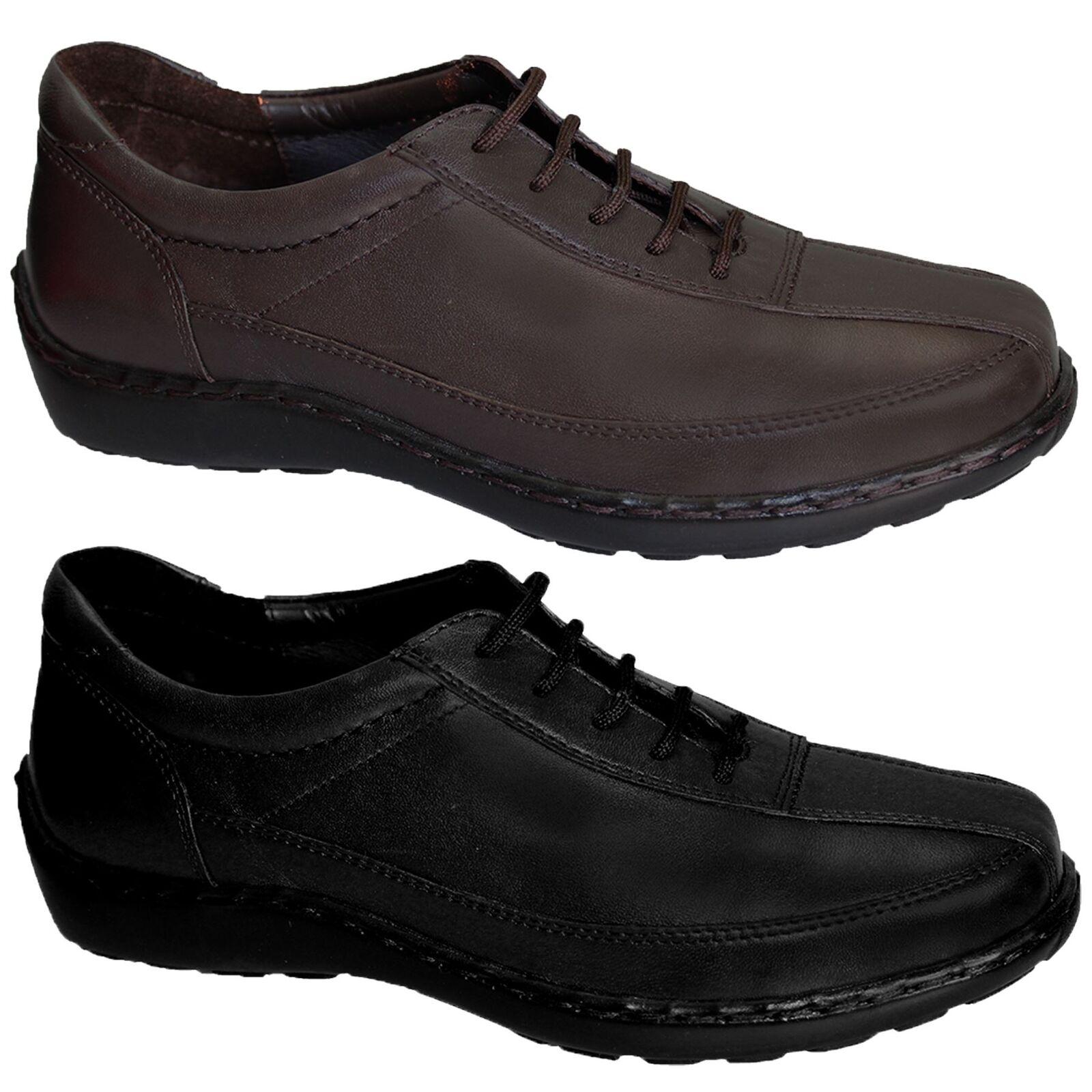 Para mujer cómodos Original Real frontal frontal frontal de cuero con encaje señoras Zapatos Planos  de moda