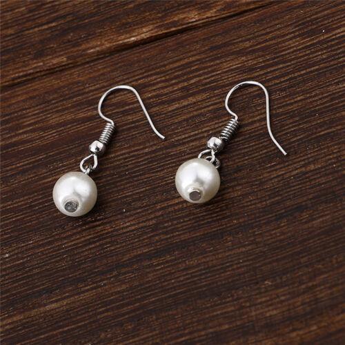Multilayer Pearl Necklace Earrings Bracelet Jewelry Set Wedding Bridal neZN