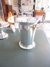 Silberglas Bauernsilber Mundgeblasen grosse Vase/Eistopf/Übertopf 23 cm hoch