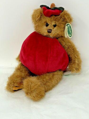 "Bearington Collection Apple Dumpling #1784 10/"" Plush Brown Jointed Bear Retired"