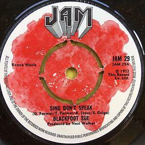 Blackfoot-Sue-Sing-Don-039-t-Speak-2-B-Free-JAM-29-Ex-Condition-A1-B1