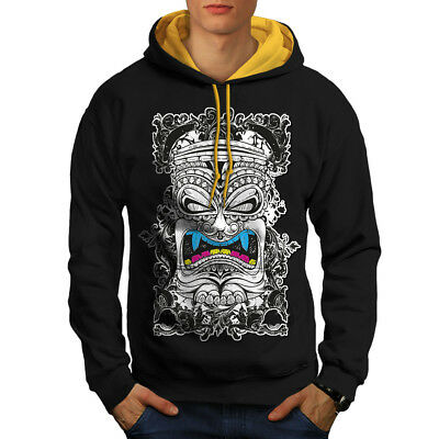New Casual Hooded Sweatshirt Wellcoda Totem Spirit Evil Fashion Mens Hoodie