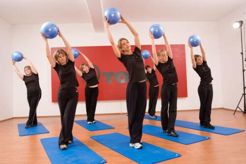Togu redondo-Ball Bleu 22 cm 10er setyoga pilates Ballon de gymnastique Neuf OVP