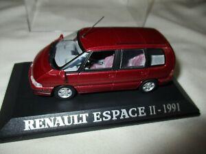 RENAULT ESPACE II 1991 Bordeaux UNIVERSAL HOBBIES Collection M6 1:43
