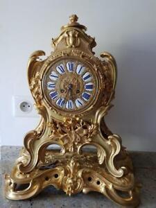 Pendule-Bronze-dore-fin-19eme