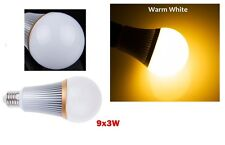 1 AMPOULE LED MAISON E27 27W = 130W 220V DIMMABLE - COULEUR BLANC CHAUD