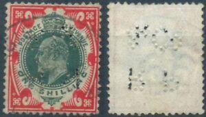 Gran Bretagna, MER. n. 114 timbrato, Re Edward VII, 1 SH, One SHILLING