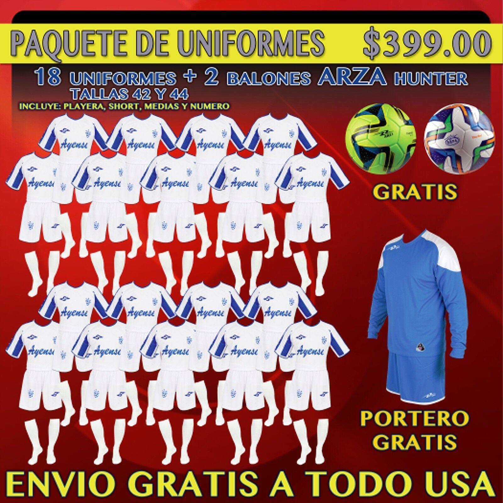 20 Marval ayense lejos fútbol uniformes _ 100% Poliéster _ hecho en México _ Venta _