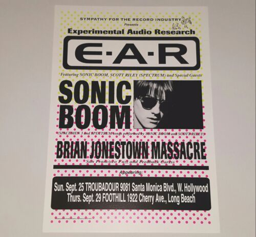 BRIAN JONESTOWN MASSACRE SONIC BOOM POSTER CONCERT PRINT SPACEMEN 3 punk lp 45