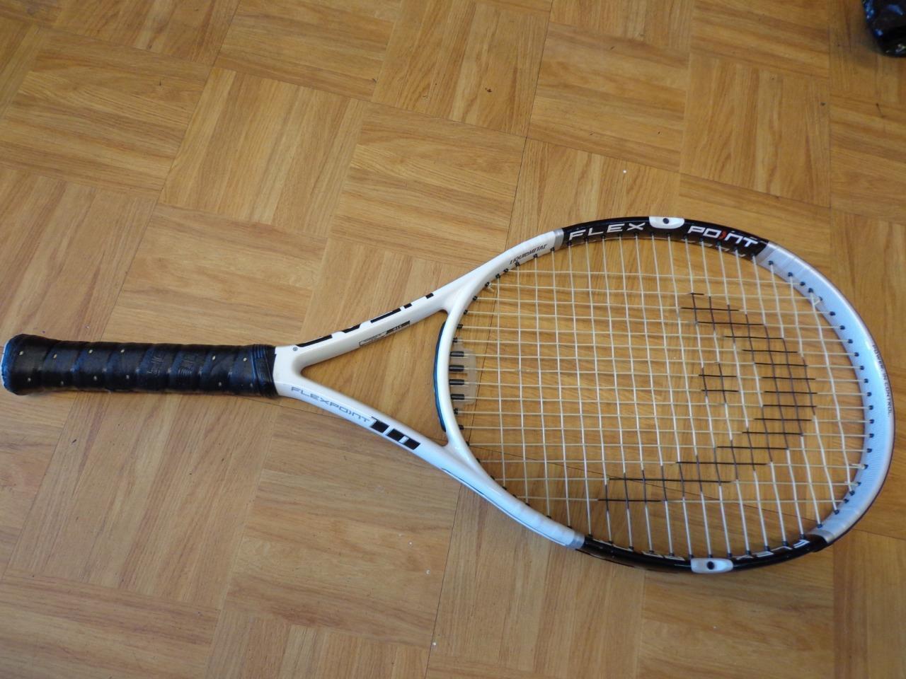 Cabeza Flexpoint 10 cabeza de gran tamaño 121 4 3  8 Grip Tenis Raqueta  forma única