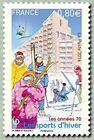 """TIMBRE FRANCE NEUF 2016 """"Les années 70 les sports d'hiver"""" Y&T 5058"""