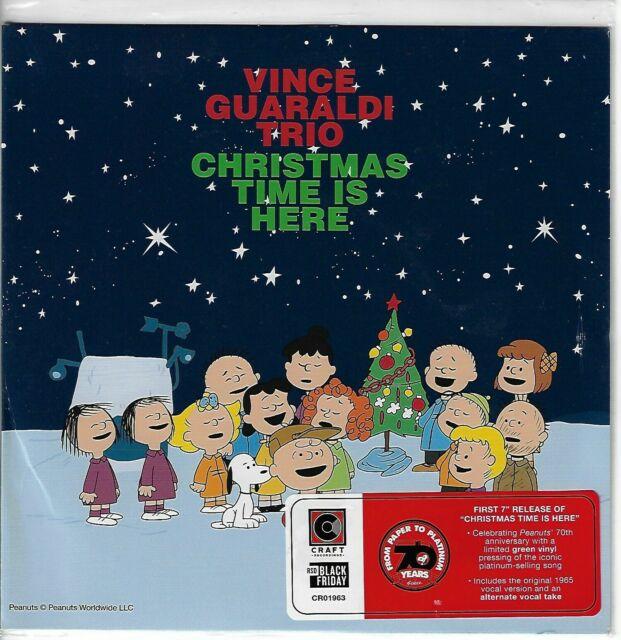 "Vince Guaraldi Trio Christmas Time Is Here 7"" Green Vinyl Black"