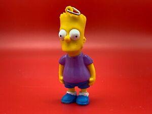 VINTAGE 1990 BART SIMPSON KEY CHAIN Matt Groening Simpsons Keyring