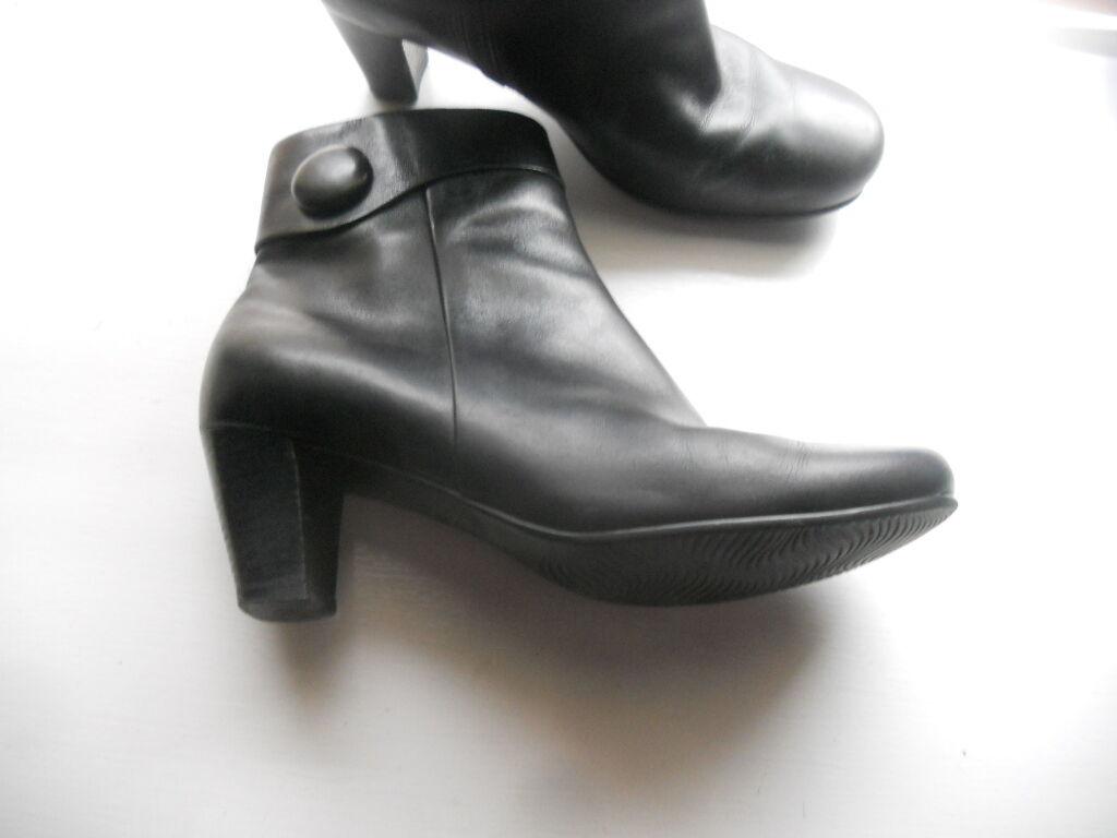 Ecco  Arte para llevar  Hanna Negro tobillo con cremallera de tacón botas  40