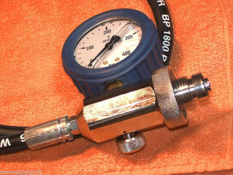 Überströmschlauch 300 bar mit Manometer und Entlüftung Entlüftung Entlüftung 65cac4