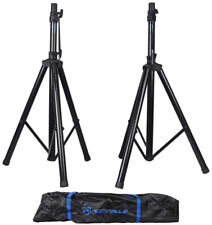 Rockville RVES1 Universal Adjustable Tripod DJ PA Speaker Stands with Carry Bag