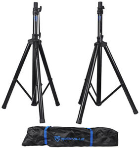Pair-Rockville-RVES1-Adjustable-Tripod-DJ-PA-Speaker-Stands-Carry-Bag-Universal