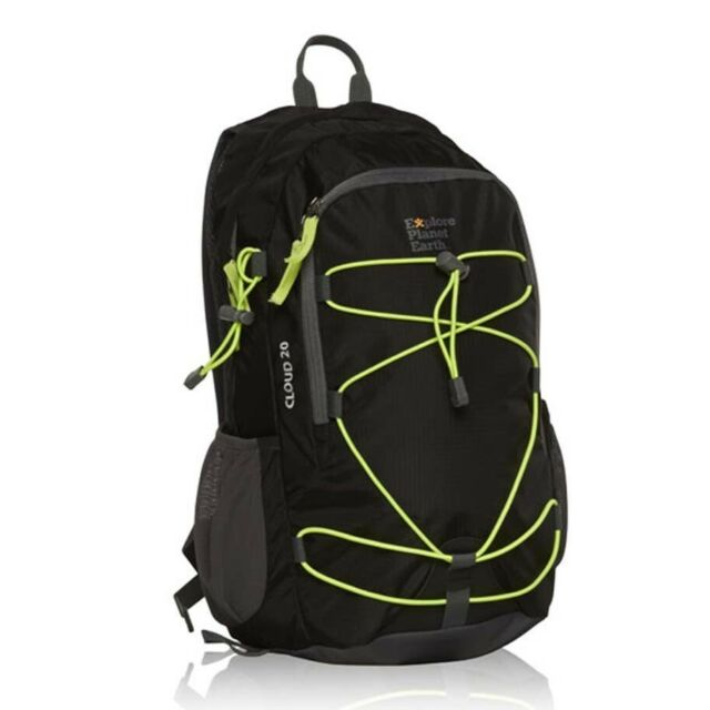 NEW Explore Planet Earth Cloud 20L Day Pack Black