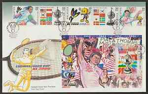 F256Z-MALAYSIA-2000-BADMINTON-THOMAS-UBER-CUP-STAMPS-amp-MS-ON-1-FDC