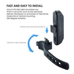 Fahrrad-Radfahren-USB-Wiederaufladbare-Warnleuchte-Vorne-Hinten-LED-Rueckli-Pw