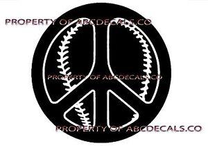 Vrs Friedenssymbol Liebe Baseball Softball Kugel Auto Aufkleber Vinyl Sticker