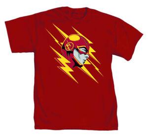DC-Comics-The-Flash-Lightning-Fast-Mens-Red-T-Shirt