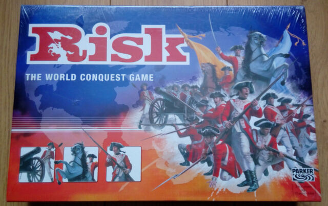 Risk Board Game By Parker 2004 Golden Cavalry Piece Edition Classic Strategy NEW