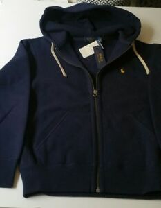 6b6c5cc7632c Image is loading POLO-zip-up-hoodie-Navy-size-small