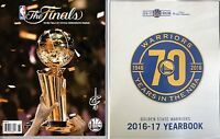 2017 Nba Finals Championship Program + Golden State Warriors Yearbook Champions