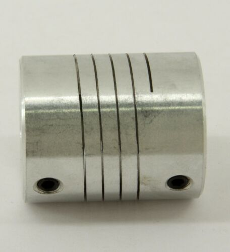 "Flexible Parallel CNC  Coupling D18-L25-6.35x1//4/"" inch to 8mm"