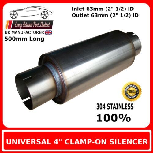 """2 /"""" 1//2 63mm 4 /""""x 16/"""" pince en acier inoxydable d/'échappement silencieux Case corps alésage"""