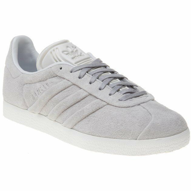 New Womens adidas Grey Gazelle Suede Trainers Retro Lace Up