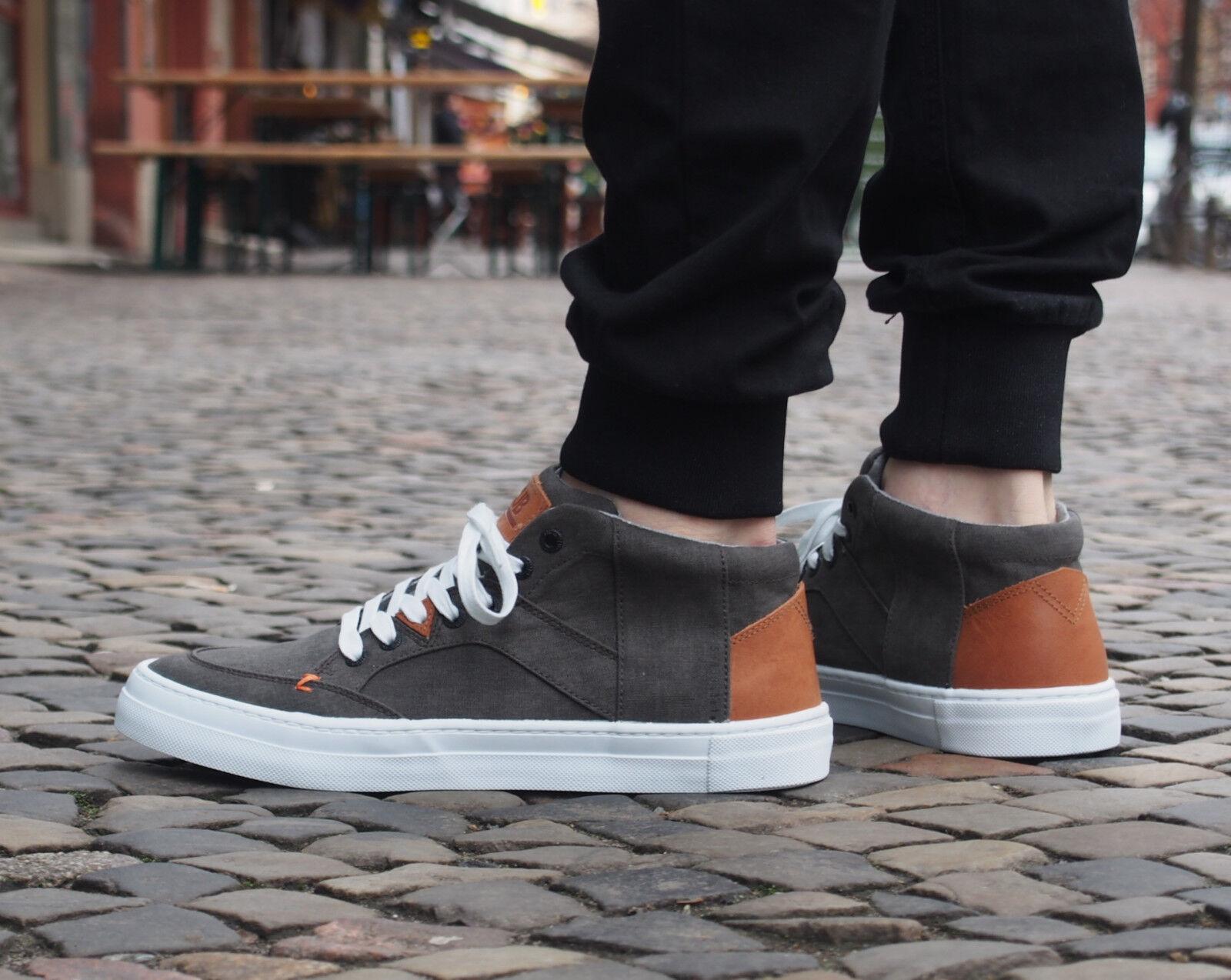 HUB Footwear Schuh Kingston Mid AC C06 schwarz Weiß Turnschuhe Herrenschuh NEU SALE