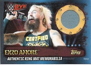 Topps WWE Slam Attax 10th Ring Mat memorabilia Enzo Amore WWE Live Germany 2017