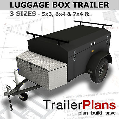 2100x1200mm PLANS ON CD-ROM 2.1m ENCLOSED BOX TRAILER PLANS Trailer Plans