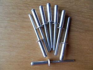 Nieten Stahl verzinkt Hohlniete 4 x 7 Stück:50