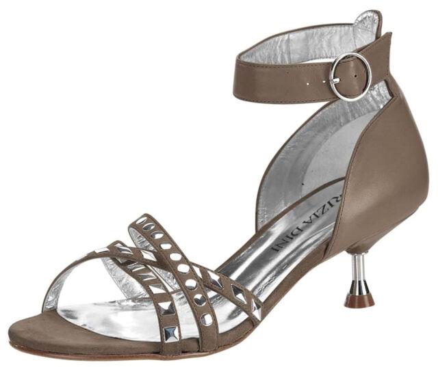 Schnäppchen!! Patrizia Dini High Heels 10 cm Wildleder Taupe, 37