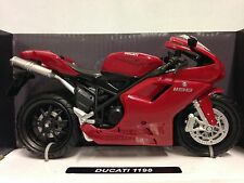 Ducati 1198 Sport Bike Motorcycle Licensed Replica 1:12 Diecast New Ray Toy Red