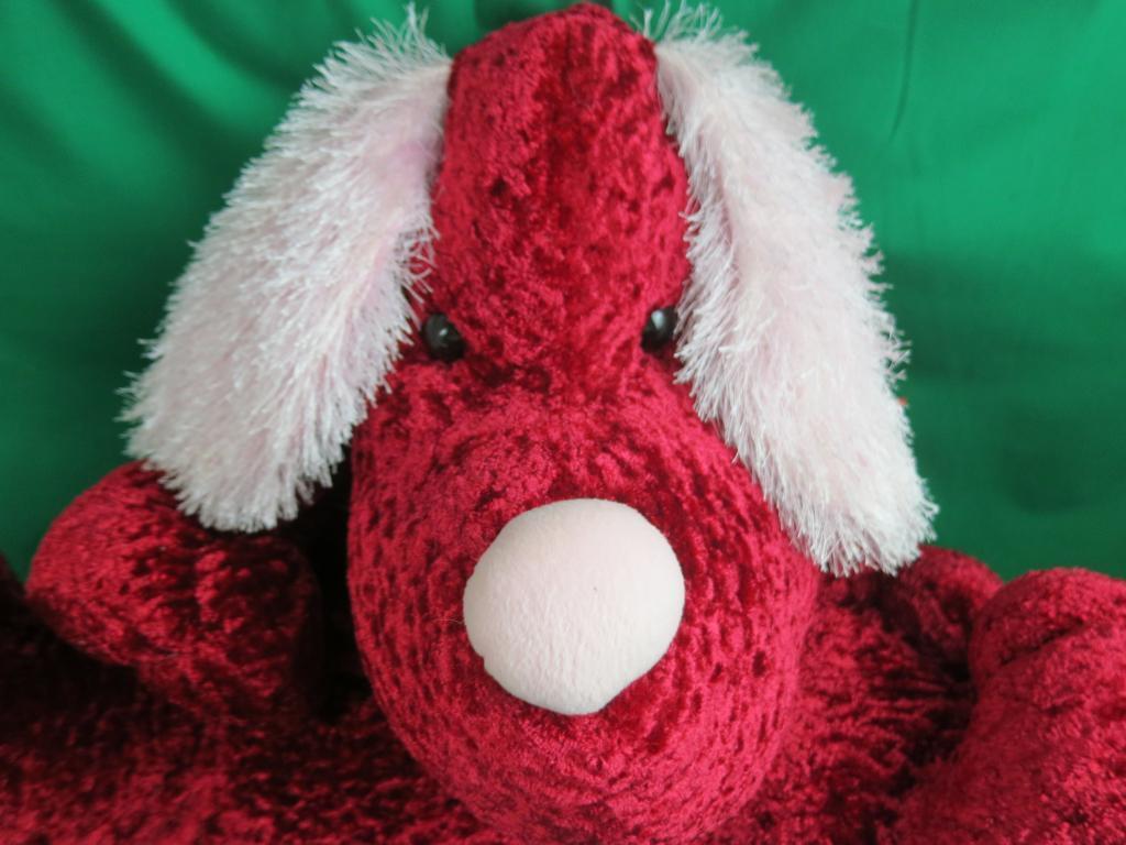BIG JUMBO ROT Rosa COMMONWEALTH PUPPY DOG SHAGGY EARS 2003 PLUSH STUFFED ANIMAL